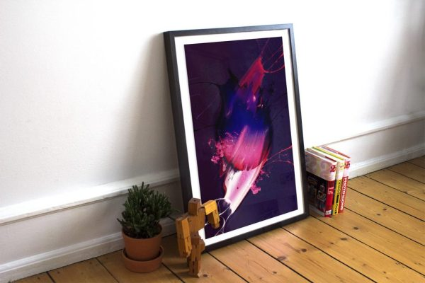 Free Realistic Poster Frame Mockup
