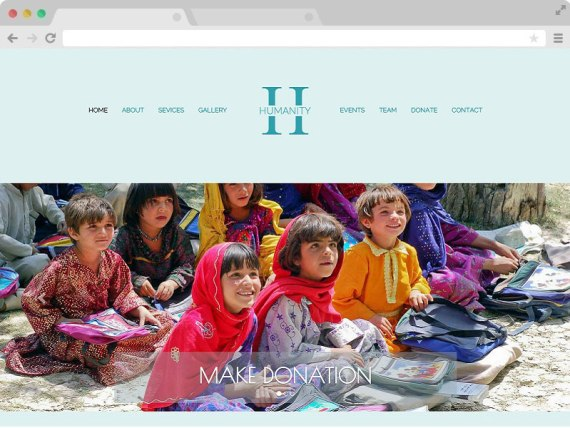 Humanity - Non Profit Charity Website Bootstrap Template with HTML5