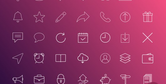 IOS7 Line Icons in Sketch Format
