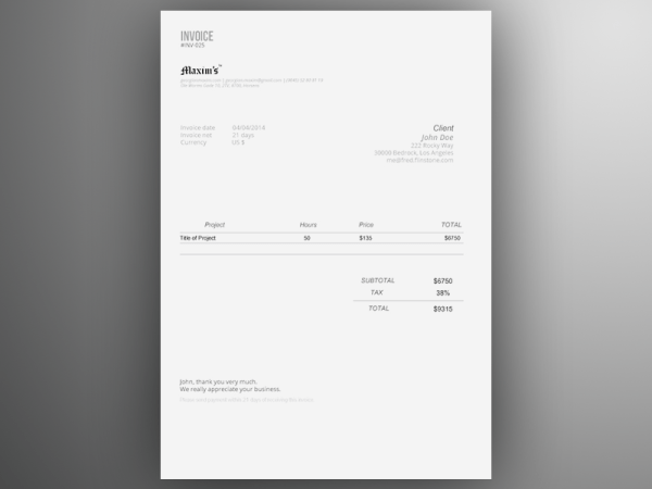 Invoice Templates PSD DOCX INDD Free Download PSDTemplatesBlog - Invoice template illustrator