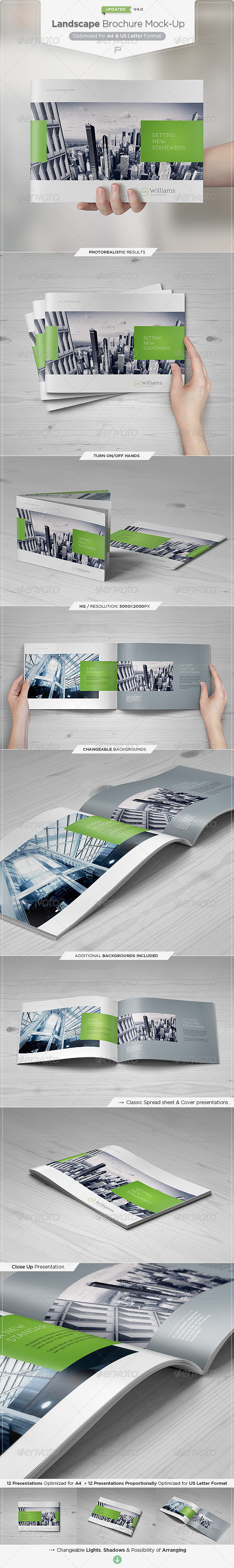 Landscape Brochure Mock-Up Set