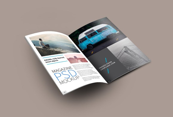 Open Magazine PSD Mockup PSD