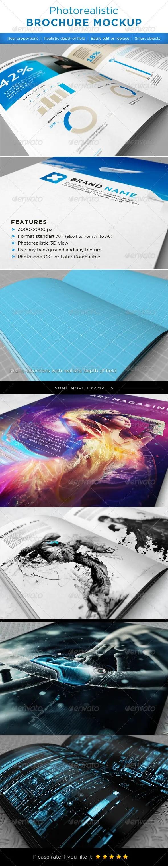 Realistic Brochures Mockups