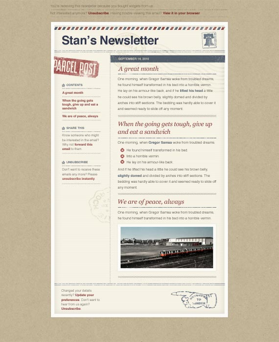 Airmail Email Newsletter Template