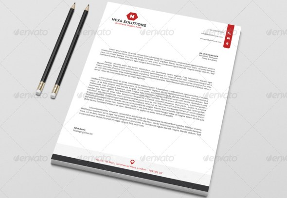 Corporate Letterhead Template with MS Word