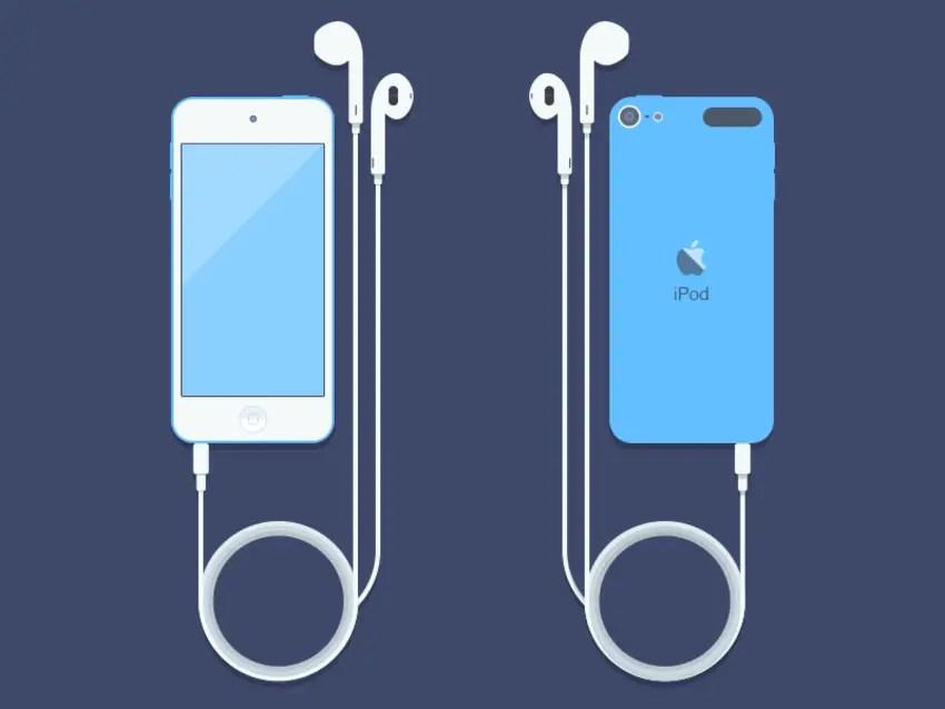 Free iPod Touch Mockup PSD