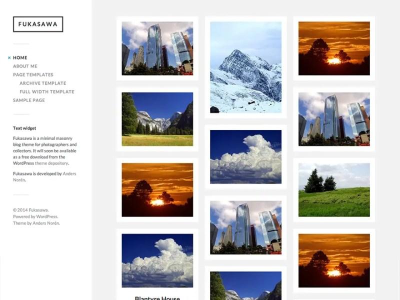 Fukasawa WordPress Photography Theme