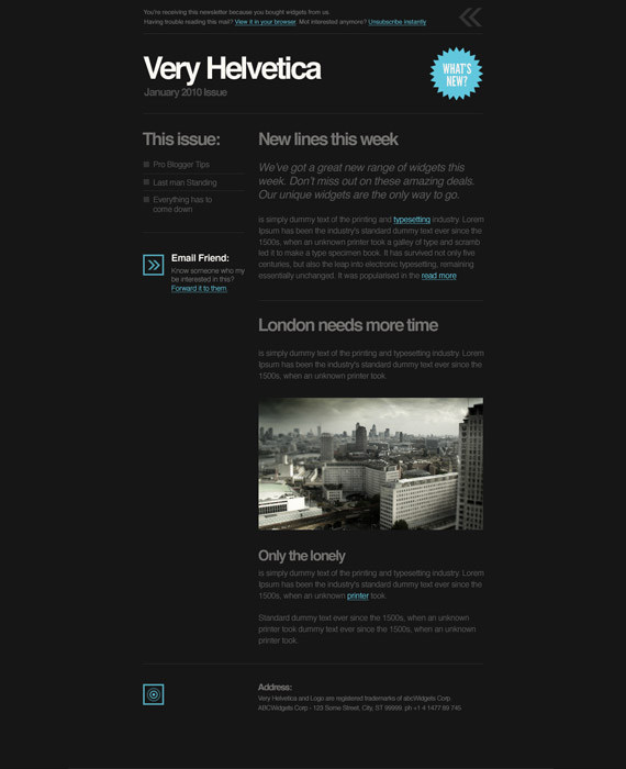 Helvetica Email Newsletter Template