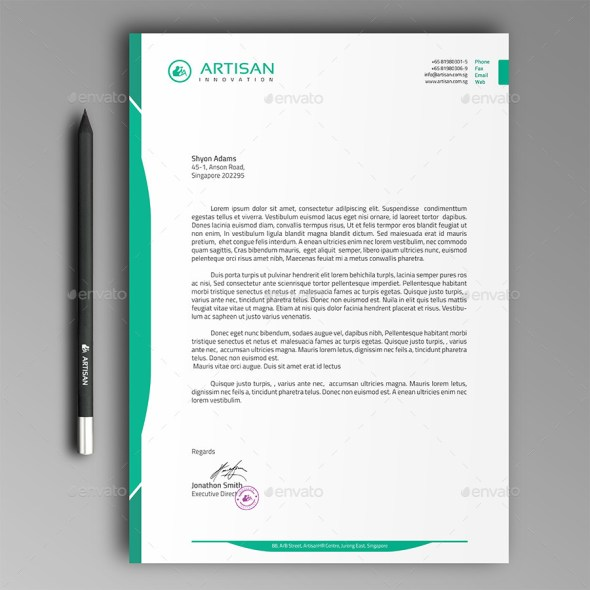 12 free letterhead templates in psd ms word and pdf format letterhead template pronofoot35fo Images