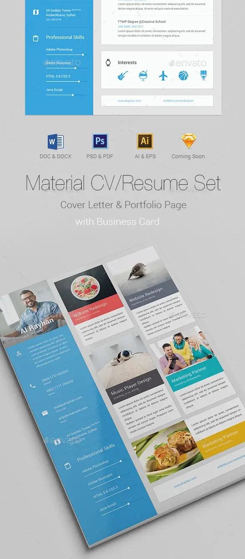 Material CV Resume PSD