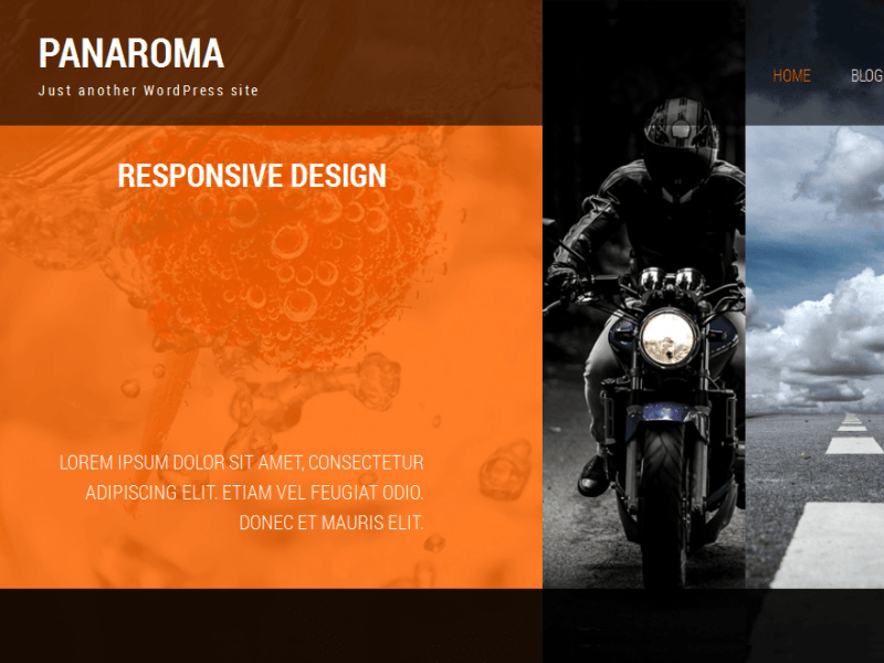 Panaroma WordPress Photography Theme