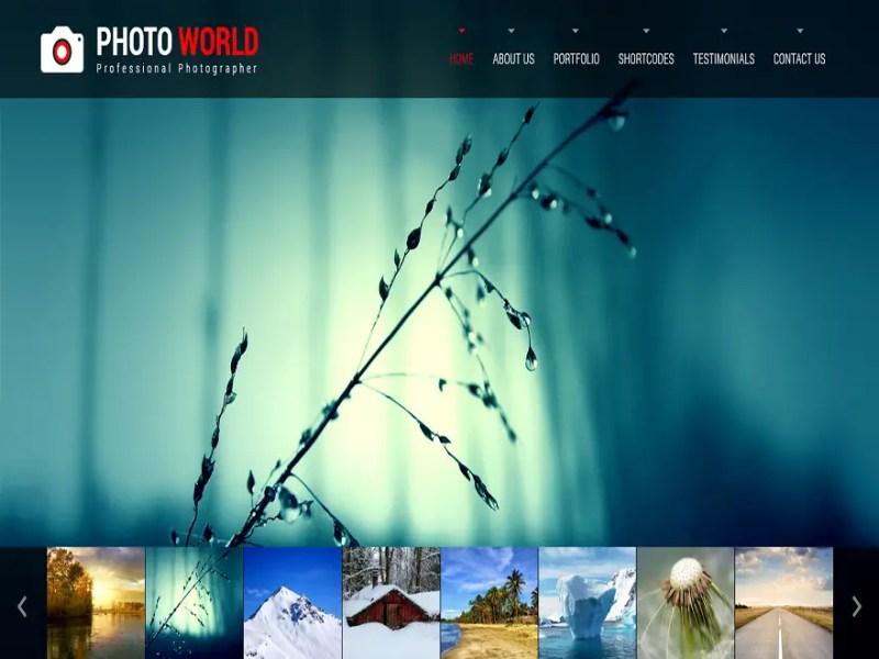 Photo World WordPress Photography Theme