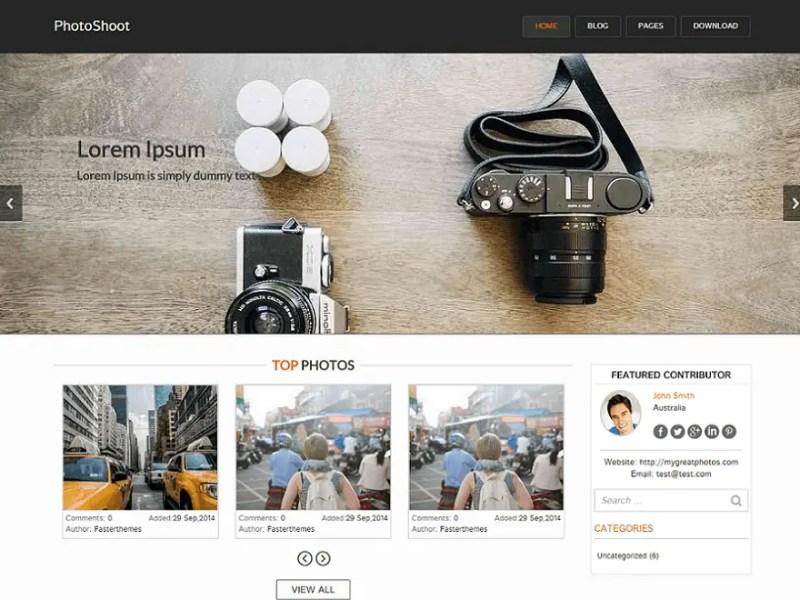 Photoshoot WordPress Photography Theme