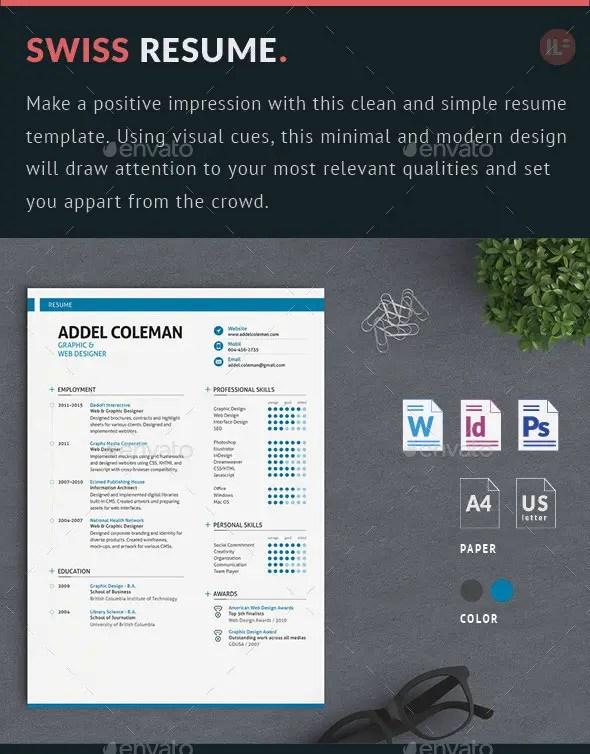 Resume CV - Swiss