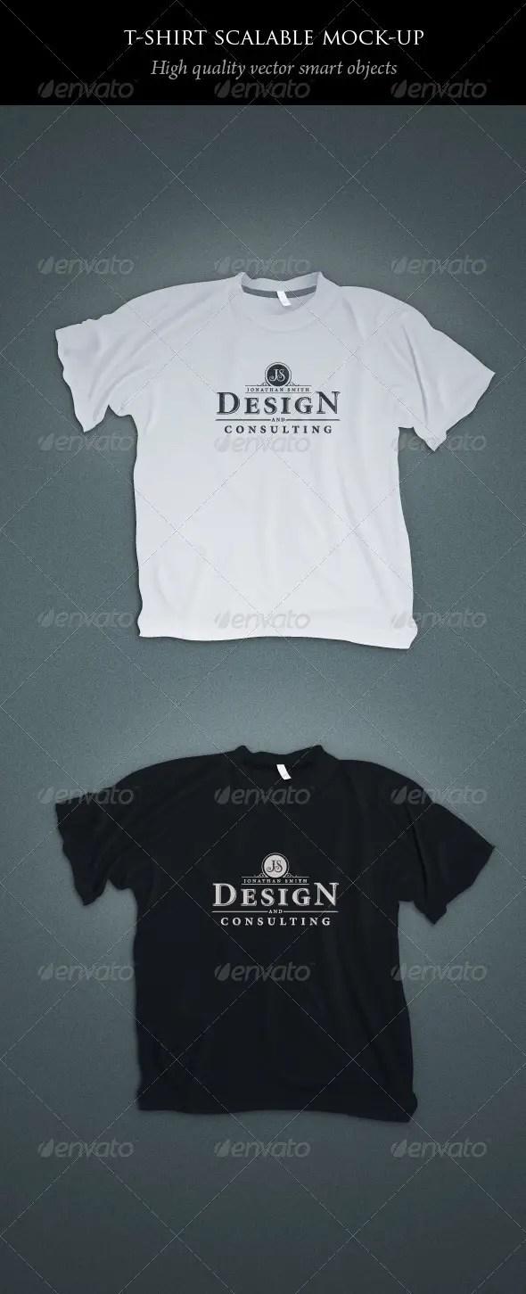 Scalable T-shirt Mockups