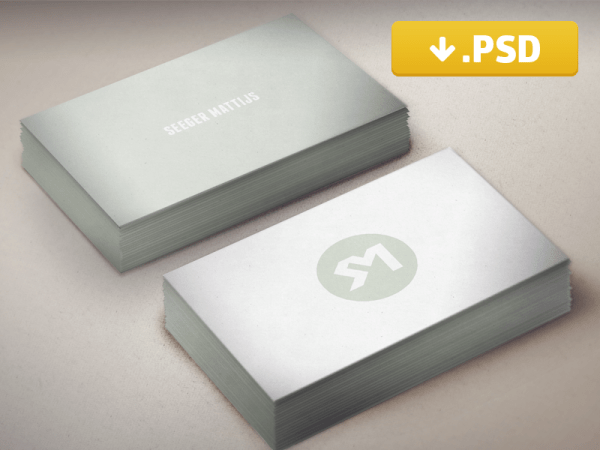 Simple Business Card Mockup PSD