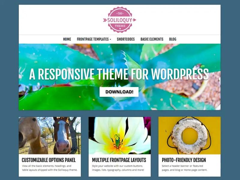 Soliloquy WordPress Photography Theme