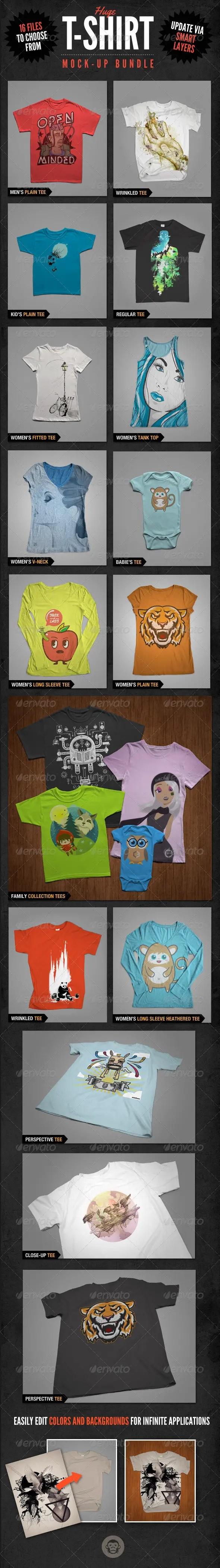 T-Shirt Mockups Bundle Pack