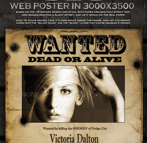 15+ Best Wanted Poster Templates PSD Download - PSDTemplatesBlog