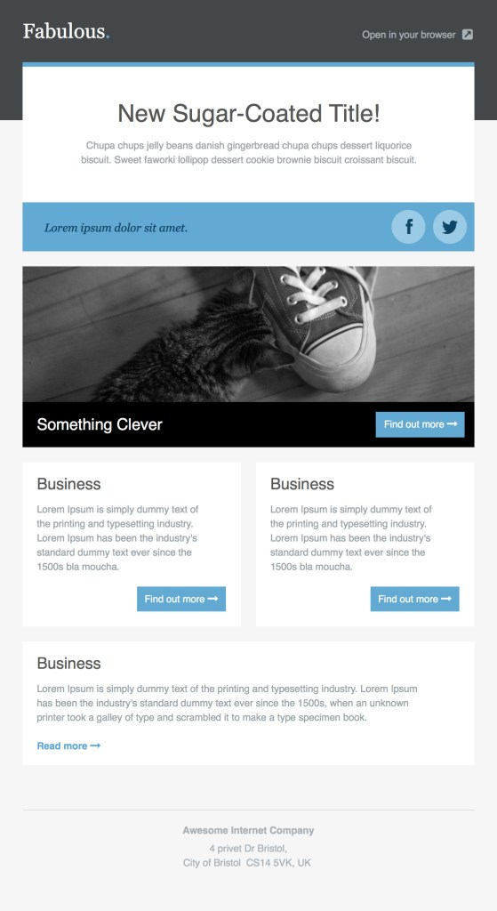 fabulous Email Newsletter Template