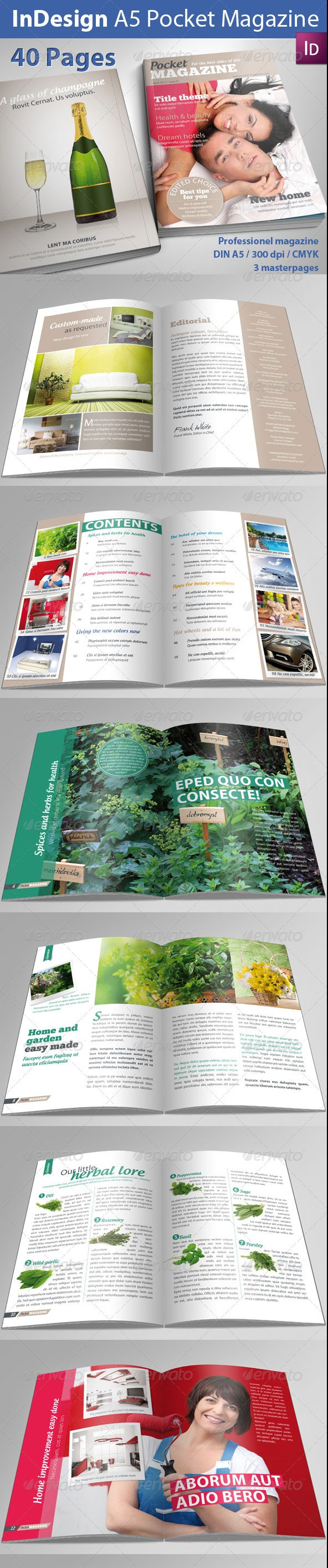 A5 Pocket Magazine