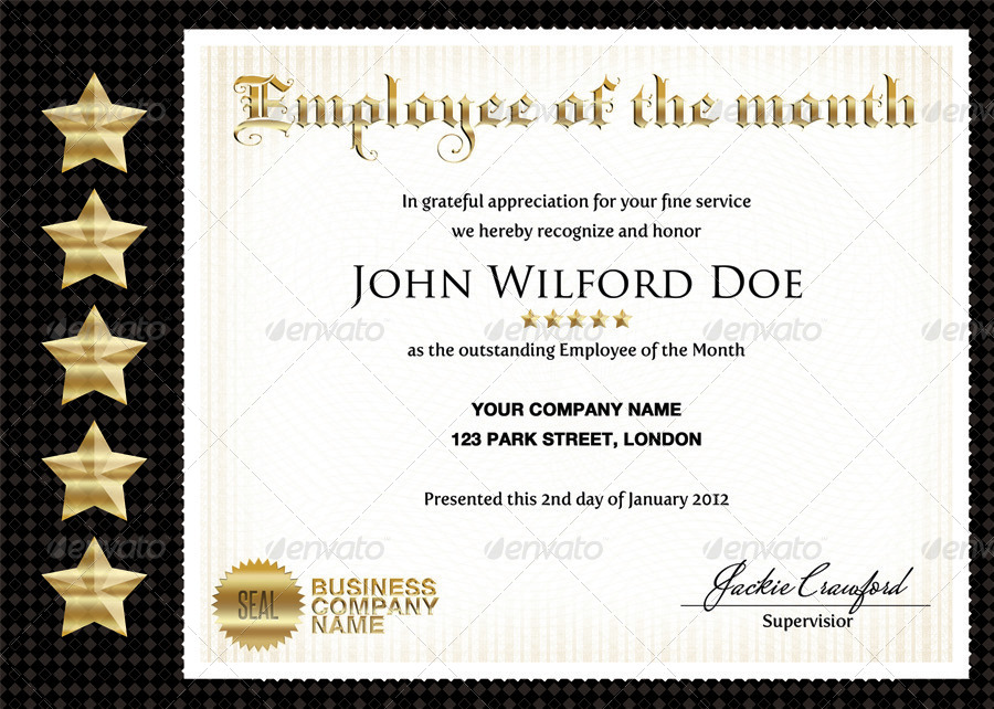 employee of the quarter certificate template akba greenw co