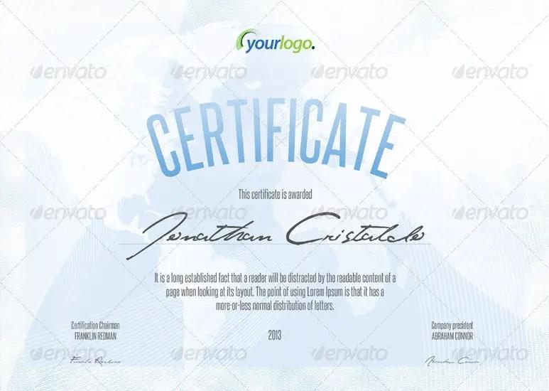 Certificate & Diploma A4 Templates