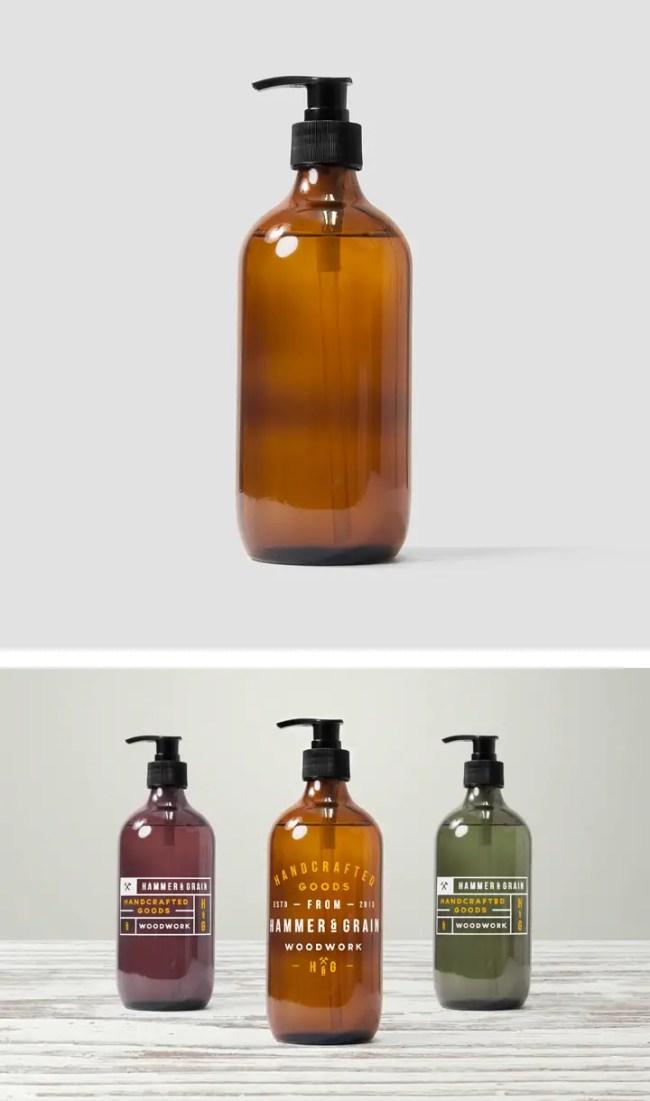 Dispenser Bottle Mockup
