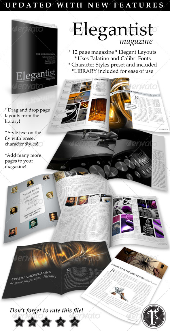 Elegant Art Magazine Template