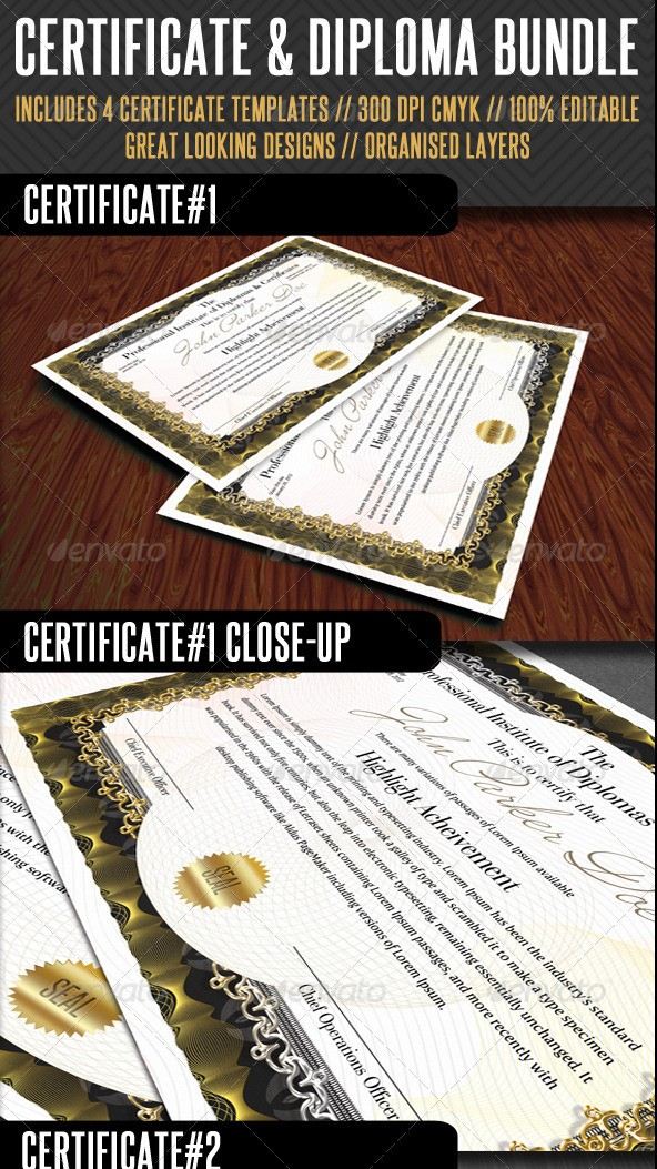 Premium Certificate Template Bundle