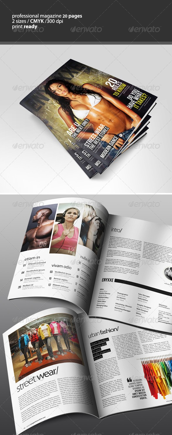 Professional Magazine Template