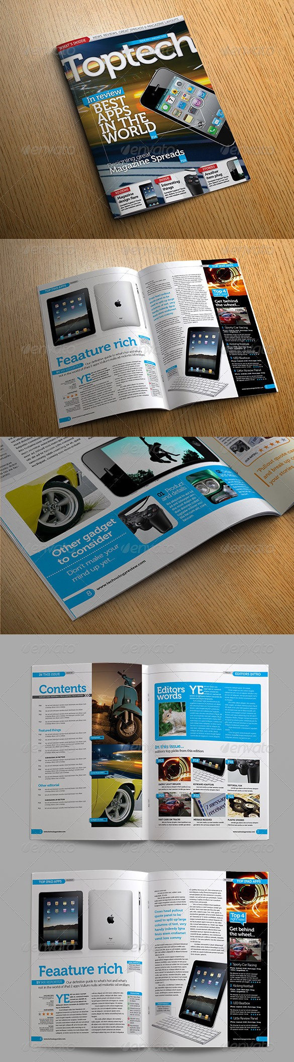 Tech Reviews Magazine Template