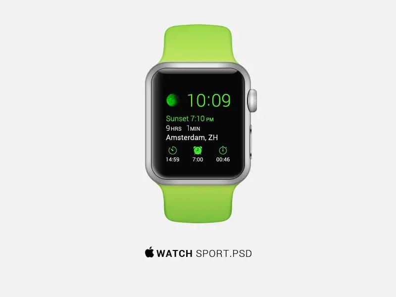 Apple Watch Sport PSD