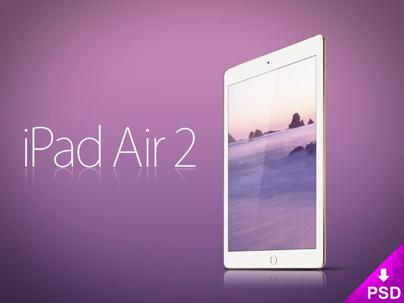Apple iPad Air 2 Mockup