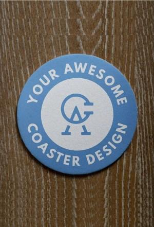 Round Coaster Mockup PSD