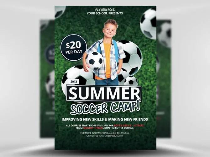 Free Summer Soccer Camp Flyer Template