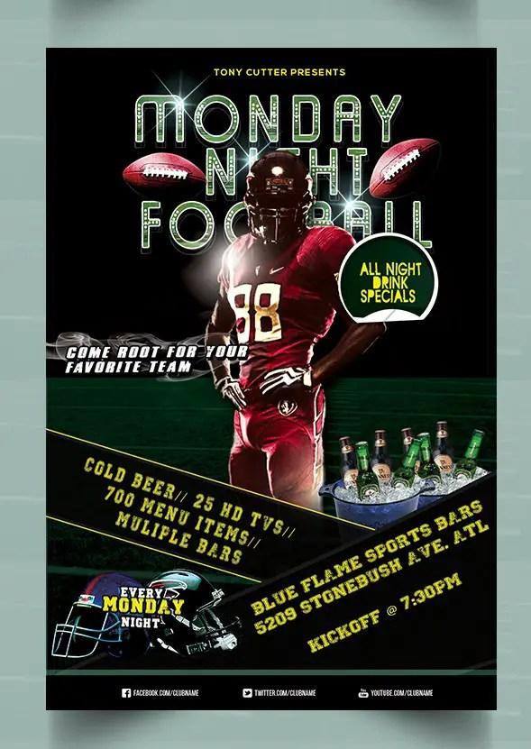 Monday Night Football Flyer Template