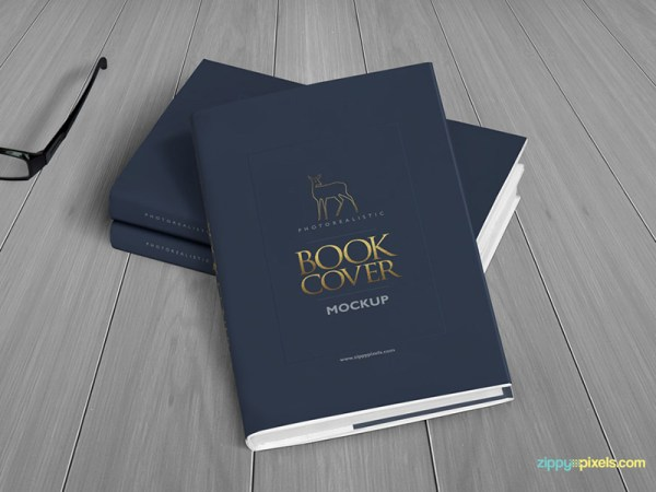 Realistic Hardcover Book Mockup - Vol 3
