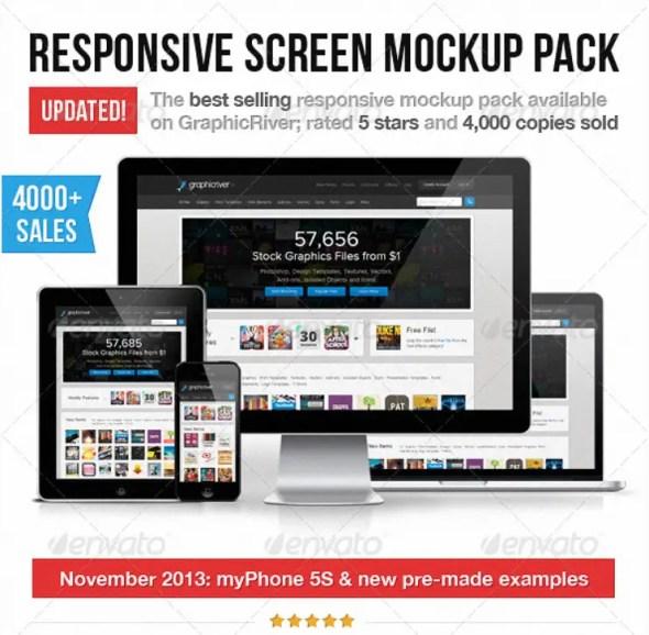 Responsive Screen Mockup Pack
