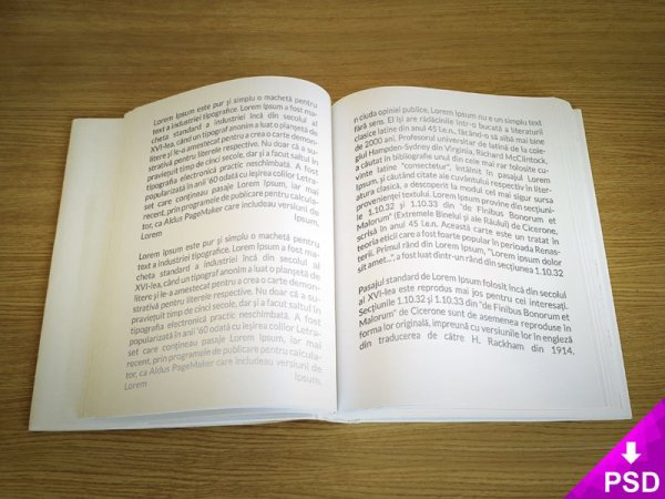 Text Book Mockup Design