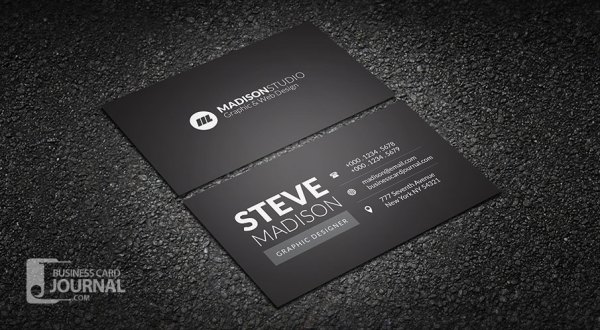 41 high quality business card templates psd free download dark minimal typography business card template fbccfo Images