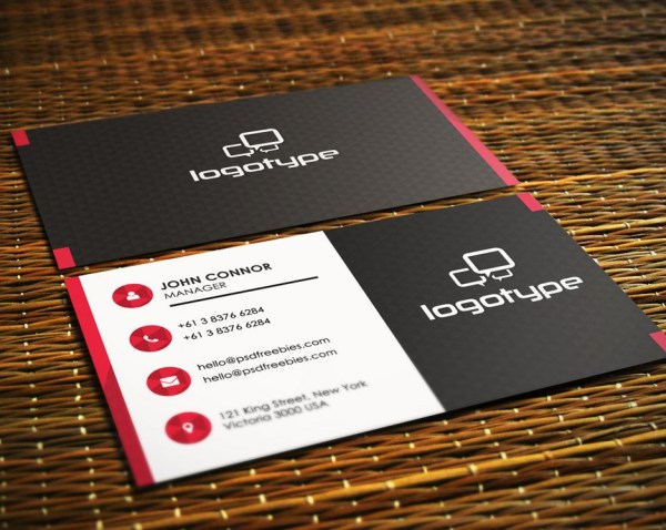 41 high quality business card templates psd free download free corporate business card psd vol 1 wajeb Gallery