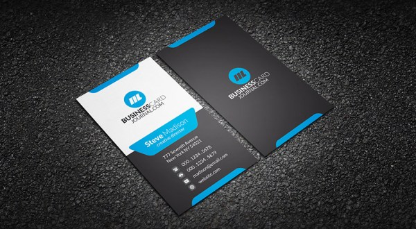 41 high quality business card templates psd free download modern stylish blue corporate business card template download reheart Choice Image