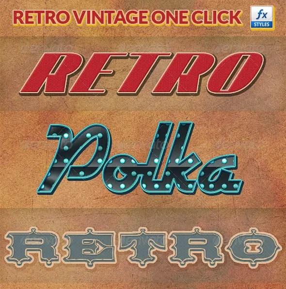 Retro Vintage Photoshop Layer Styles