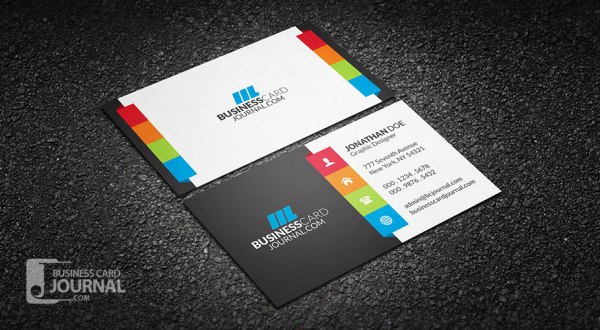 41 high quality business card templates psd free download vibrant multi color business card template friedricerecipe Choice Image