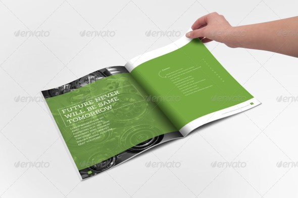 Annual Report Clean Indesign Template