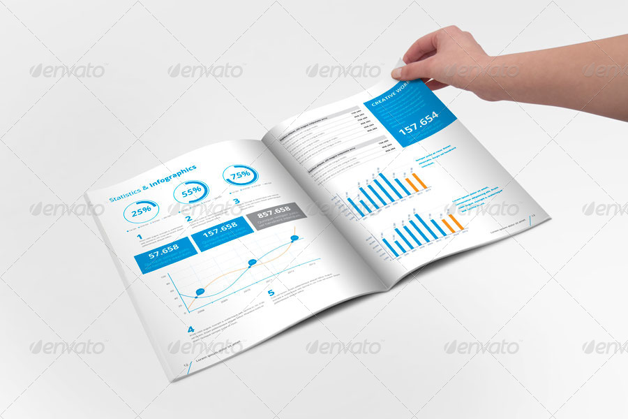 InDesign Annual Report Templates For Corporate Businesses - Annual report template indesign