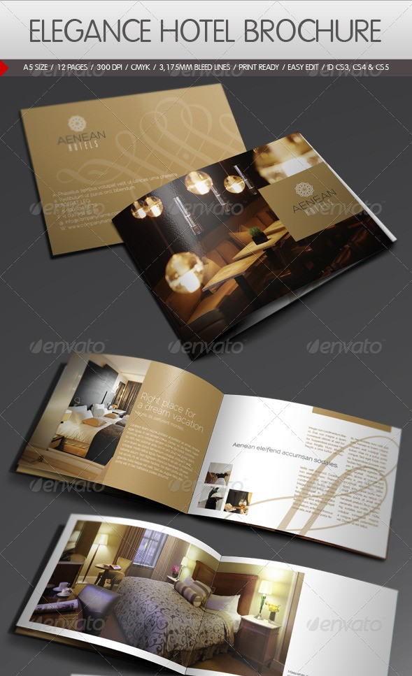 Elegance Hotel Brochure Template