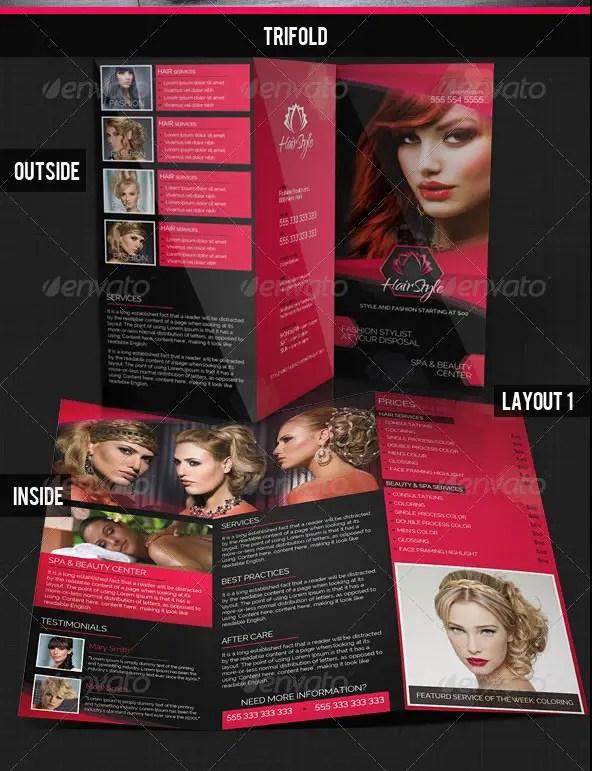Hair Salon Fashion Style Bi-Fold & Tri-fold Brochures
