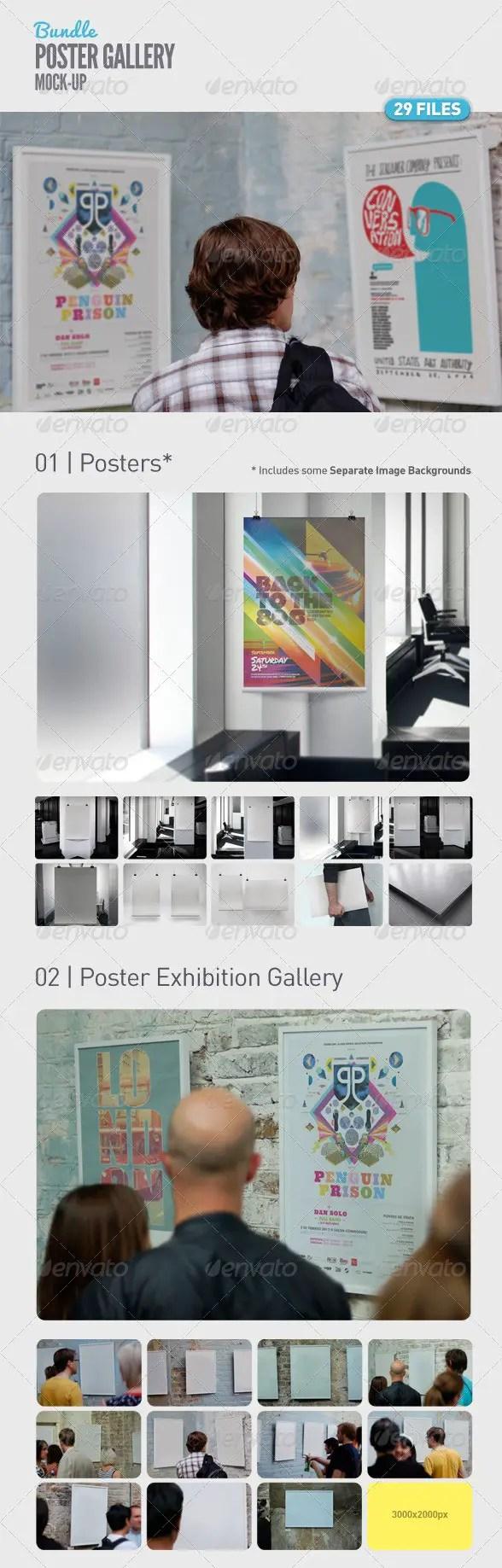 Poster Gallery Mock-Up Bundle